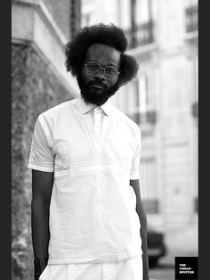 f1ae454b897 He s attractive in a Big Bang Theory nerd type of way. Thank God for beards  and the perk of big hair on an ebony man. Nice shirt
