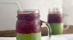 Layered Wild Blueberry Green Smoothie - Wild Blueberries Get more nutrition tips at nutrition101.kyani.net