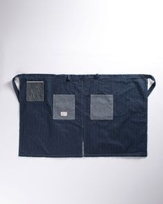 • BasShu's Cafe Apron: thick traditional Japanese textiles, flattering fit, and chambray pockets.