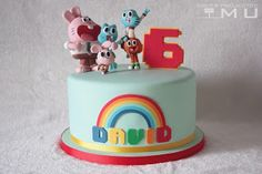 doces projectos MU: Bolo David_The Amazing World of Gumball_Agosto 201...