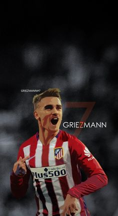 Antoine Griezmann - Atletico Madrid Football - Soccer Creative Art - iPhone 6 wallpaper