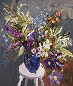 ~ Laura Jones – Clematis and Banksia Still Life 2013, oil on linen