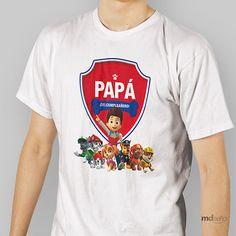 """Playera Fiesta Paw Patrol """"Soy el Papá del Cumpleañero"""" – M Diseño"""