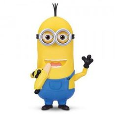 The Minion Kevin, Banana Eating Action Figure from Thinkway Toys is a nearly 10-inch tall figure of Kevin from the Minions movie.