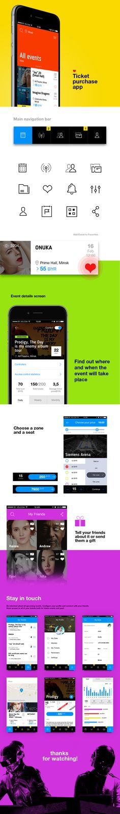 Ticket Purchase Mobile App on Behance