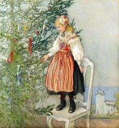 §§§ : Decorating the Tree : Carl Larsson 1853-1919