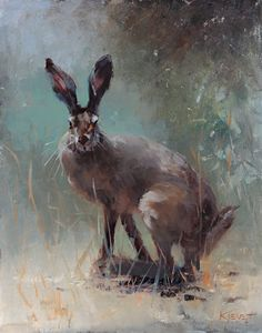 Wild Hare by Fran Kievet Oil ~ 20 x 16