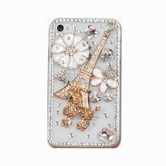 Handmade hard case for iPhone 4 4S & 5 Bling Eiffel by CheersCases, $24.99
