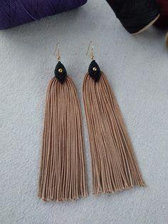 Macrame earrings, tassel earrings, long earrings, dangle and drop earrings