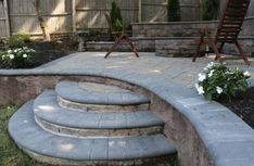 Add unique steps to enhance your outdoor living space with Cambridge Pavingstones and Armor Tec! Installation by: Lorrand Landscapes