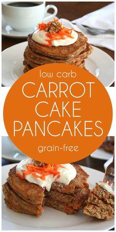 Low carb Grain-free Carrot Cake Pancakes