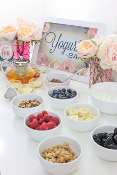 A Delightful, Emotional Self Care Event Home Spa Day Tea Party- Yogurt Party- B. Lovely EventsHome Spa Day Tea Party- Yogurt Party- B. Spa Party Foods, Spa Day Party, Girl Spa Party, Spa Birthday Parties, Pamper Party, Brunch Party, Snacks Für Party, Tea Party, Party Sweets