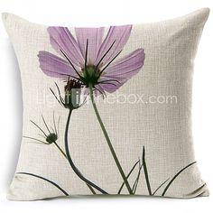 Cotton/Linen Pillow Cover , Floral Modern/Contemporary 2017 - Rs1770