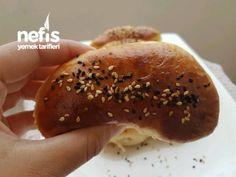 Kabardıkça Kabaran Labneli Poğaça Tarifi – Videolu - Nefis Yemek Tarifleri Turkish Recipes, Bagel, Hamburger, Bread, Food, Meal, Hamburgers, Essen, Turkish Food Recipes