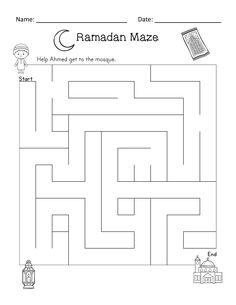 Ramadan Reader and Activities (ELA, Math, Puzzles)- Kindergarten, and Ramadan Activities, Creative Activities, Activities For Kids, Eid Crafts, Ramadan Crafts, Daily Routine Activities, Muslim Holidays, Islam For Kids, Kids Learning