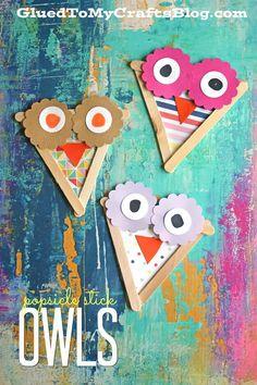 Popsicle Stick Owls - Kid Craft Idea