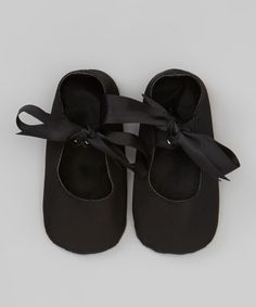 Black Ribbon Bow Flat | Daily deals for moms, babies and kids