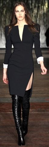 Victoria Beckham. This dress would be slamming without the shoulder pads.....#Realwomenwear