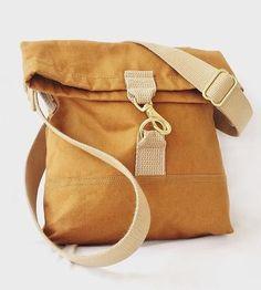 Crossbody Slim Canvas Bag by Johnson Benjamin on Scoutmob Shoppe Tote Bags, My Bags, Purses And Bags, Diy Handbag, Diy Purse, Canvas Crossbody Bag, Hermes Handbags, Simple Bags, Denim Bag