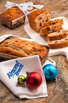 Almond Breeze : Cranberry Almond Bread #holidays #bread #baking #almondmilk #cranberries