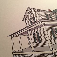 .@Annemarie Buckley / Scout's Honor Co. | Custom home print in the works