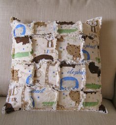 The At Home Zoo  adorable animals pillow cover by catchallcorner, $16.00