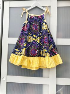 African print girl dress / beach dress /summer dress / swing dress for girls / holiday dress. Ankara dress for girls age - Summer Dresses Girls Holiday Dresses, Little Girl Dresses, Girls Dresses, African Dresses For Kids, African Fashion Dresses, Dress Fashion, African Kids, Fashion Outfits, Gothic Fashion
