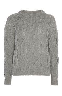 Primark - Camisola cinzento com entrançado