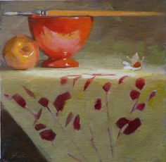 유 Still Life Brushstrokes 유 Nature Morte Paintings - Ron Ferkol: Red Bowl & Pink Lady Painting Still Life, Paintings I Love, Awesome Paintings, Abstract Paintings, Amazing Art, Still Life 2, Red Bowl, Life Is A Gift, Hyperrealism