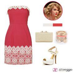 #vestido #corto #strapple #crochet #coral #mini #dress #fashion #zapatillas #cierre #beige