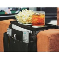 6 Pocket Couch Recliner Tabletop Arm Rest Remote Control Storage Organizer  Caddy