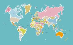 World map showing all the countries | Judy Kaufmann