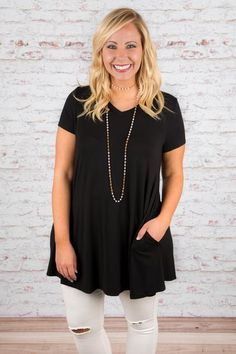 The Only One For Me Tunic, Black