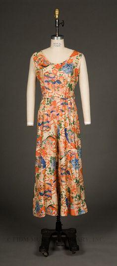 c. 1935 Lounging Pajamas of silk