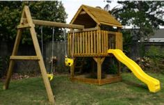 This is EXACTLY what I have been looking for! Ladder, slide, climbing wall, swings, fort style (for the breeze in summer) Perfect. Full plans, with including how many planks of each size, bolts etc.