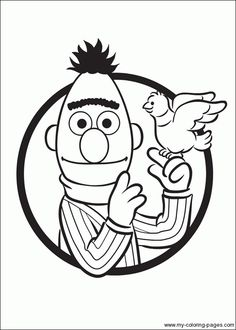 Ernie & Bert coloring pages!