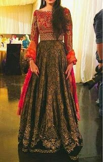My Dressing Style: Mehndi dress . it's only thing. Indian Gowns, Indian Attire, Indian Outfits, Indian Wear, Pakistani Wedding Outfits, Pakistani Dresses, Kaftan, Shadi Dresses, Desi Clothes