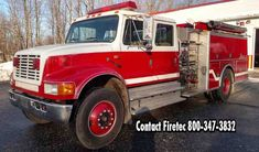 1992 International/ KME with 1250 pump and 1000 gallon tank. This used fire truck is for sale through Firetec. Call us at or text Fire Trucks For Sale, Used Engines, Fire Apparatus, Evening Sandals, Fire Engine, Fire Department, Boys, Girls, Pump