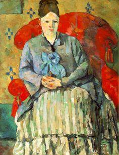 Paul Cézanne, Hortense Fiquet in a Striped Skirt, 1877-1878, oil on canvas, ...  a