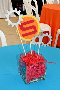 Photo 28 of Robots / Birthday Mauros Robot Party Homemade Robot, 5th Birthday Party Ideas, 4th Birthday, Maker Fun Factory Vbs, Transformers Birthday Parties, Robot Theme, Transformer Birthday, Ideas Para Organizar, Birthdays