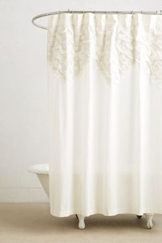 Scallop-Sequence Shower Curtain - anthropologie.com