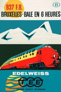Affiche TEE Edelweiss, 1962 | Paul Funken (collectie Arjan den Boer)