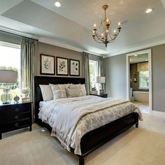 Lovely Farmhouse Style Master Bedroom Ideas That Will Impres.- Lovely Farmhouse Style Master Bedroom Ideas That Will Impress You - Rustic Master Bedroom Design, Farmhouse Master Bedroom, Master Bedroom Makeover, Home Decor Bedroom, Modern Bedroom, Bedroom Ideas, Contemporary Bedroom, Black Bedroom Furniture, Master Bedrooms
