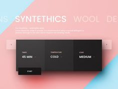 Washing machine UI by Paul Flavius Nechita