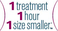 1 treatment. 1hour. 1 size smaller. If you want to lose a waist size or lose a pant size and can pinch an inch then Liposonix will help you ...