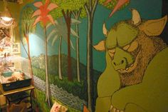 Where the Wild Things Are mural - awesome nursery, minus the scary Wild Thing! Monster Baby Rooms, Wow Products, Book Design, Wall Murals, Playroom, Sweet Home, Cool Stuff, Kid Stuff, Random Stuff