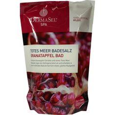 DERMASEL Totes Meer Badesalz+Granatapfel SPA:   Packungsinhalt: 1 P Kombipackung PZN: 09480734 Hersteller: Fette Pharma AG Preis: 2,15…