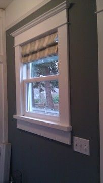 Trim And Curtains Craftsman Window Trim Design Ideas, Pictures, Remodel,  And Decor