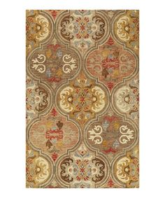 Look what I found on #zulily! Multi Renaissance Hooked Wool Rug #zulilyfinds