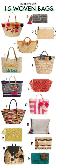 15 Woven Bags You Need This Spring!